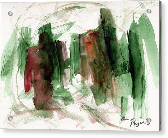 Abstract Watercolor 51 Acrylic Print