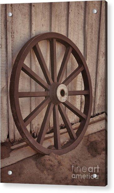 An Old Wagon Wheel Acrylic Print