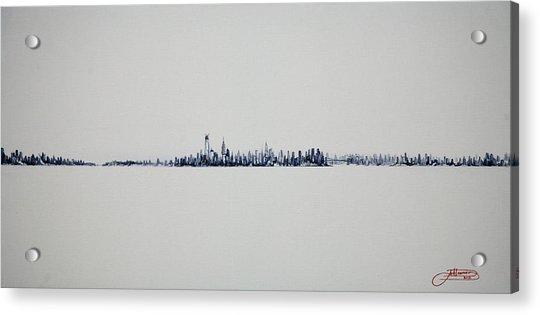 Autum Skyline Acrylic Print