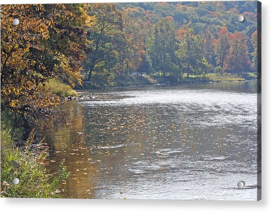 Autumn On The River Acrylic Print by Darlene Bell