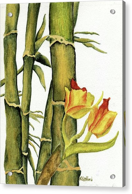 Bamboo Paradise Acrylic Print by Norma Gafford