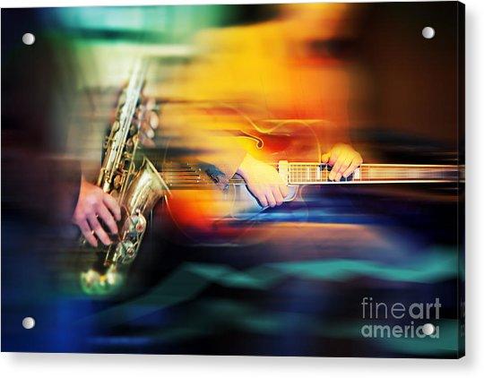 Basic Jazz Instruments Acrylic Print