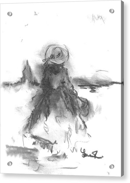 Acrylic Print featuring the drawing Being Happy by Laurie Lundquist