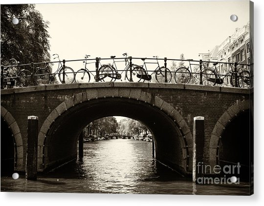 Bicycles Of Amsterdam Acrylic Print