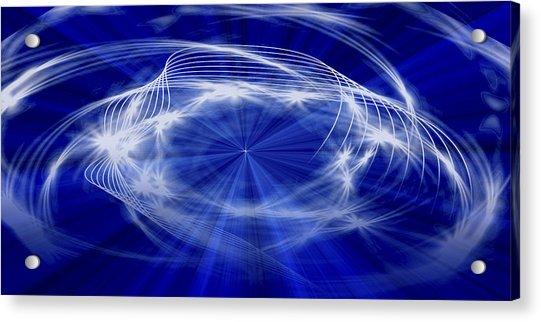 Blue Creation Acrylic Print