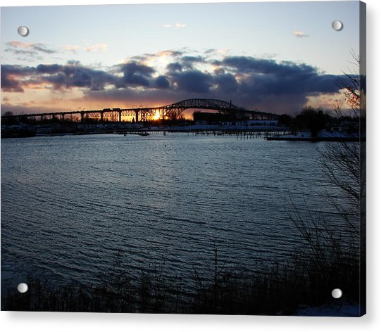 Bluewater Bridges In Winter 1 Acrylic Print