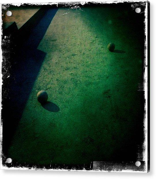 Bocce Ball Court Acrylic Print