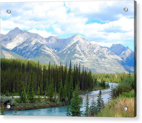 Bow River Near Canmore Alberta Acrylic Print