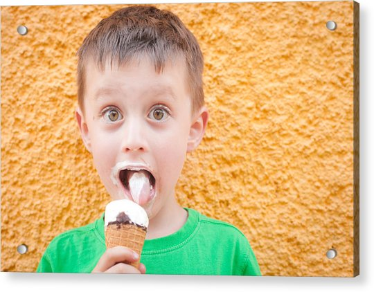 Boy Having Ice Cream Acrylic Print