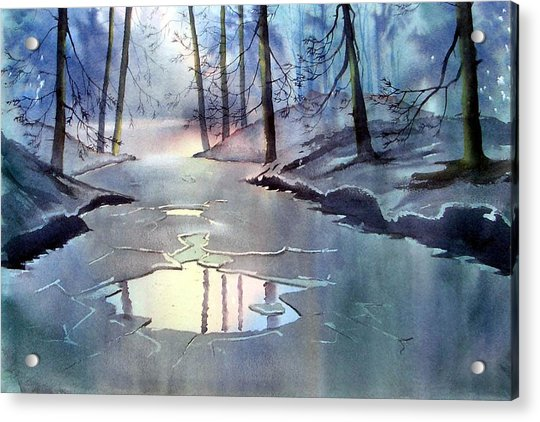 Breaking Ice Acrylic Print