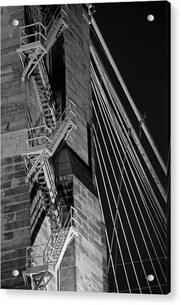 Bricks And Cables Acrylic Print