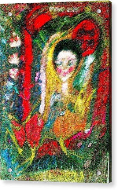 Celebration Of Life.. Be..3 Acrylic Print by Rooma Mehra
