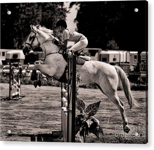 Clearing The Hurdle Acrylic Print