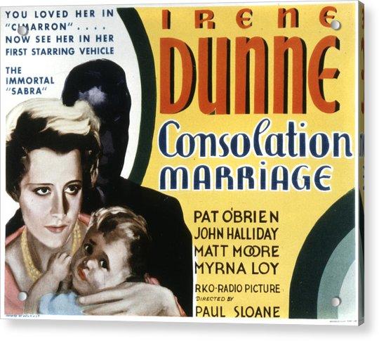 Consolation Marriage, Irene Dunne Acrylic Print