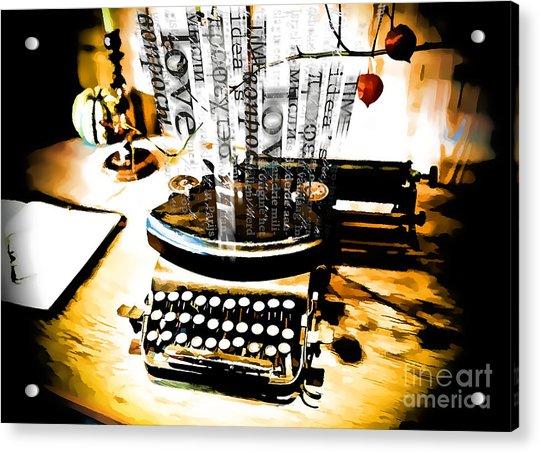Creative Process Acrylic Print