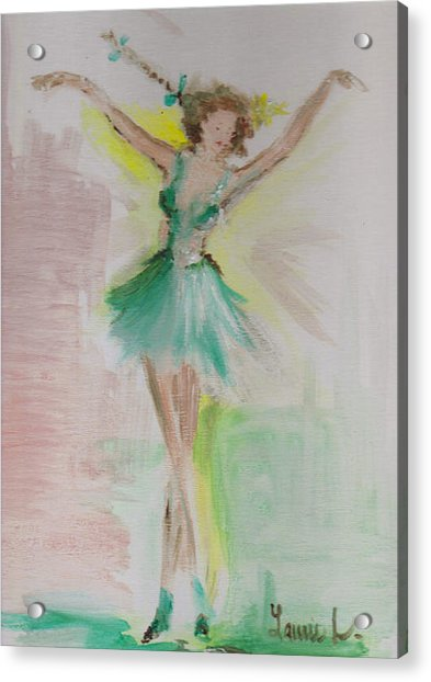 Acrylic Print featuring the painting Dance by Laurie Lundquist