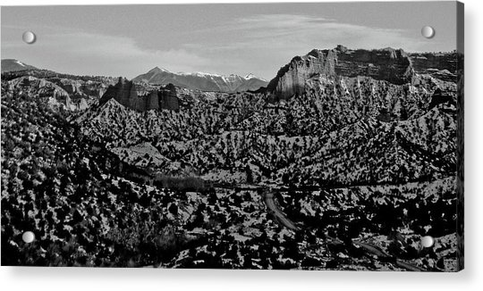 Desert And The Truchas Acrylic Print