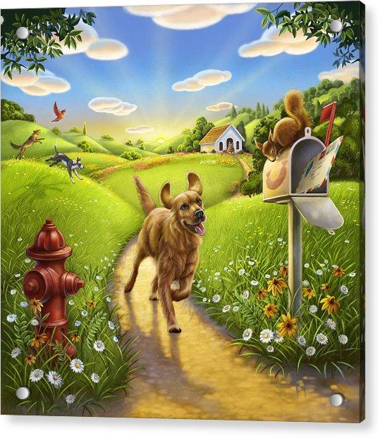 Dog Heaven Acrylic Print