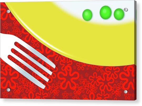 Eat Your Peas Acrylic Print