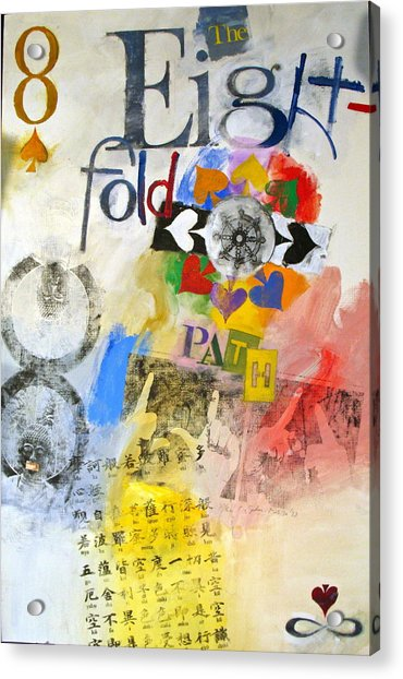 Acrylic Print featuring the painting Eight Of Spades 30-52 by Cliff Spohn