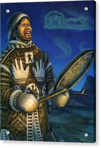 Eskimo Shaman Acrylic Print