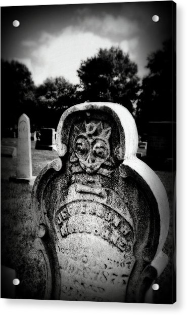 Face In The Grave Acrylic Print
