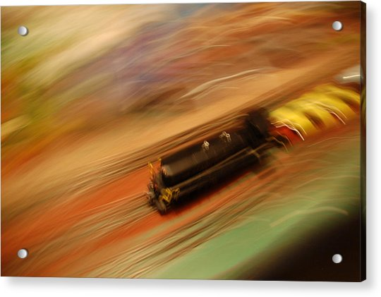Fast Train Set Acrylic Print