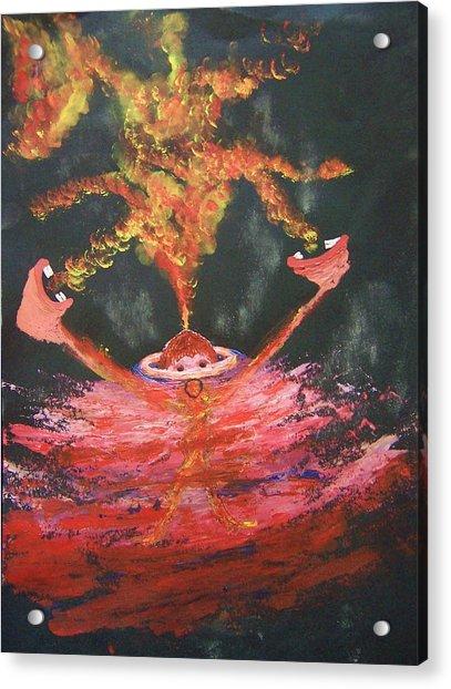 Fearless Rage Acrylic Print