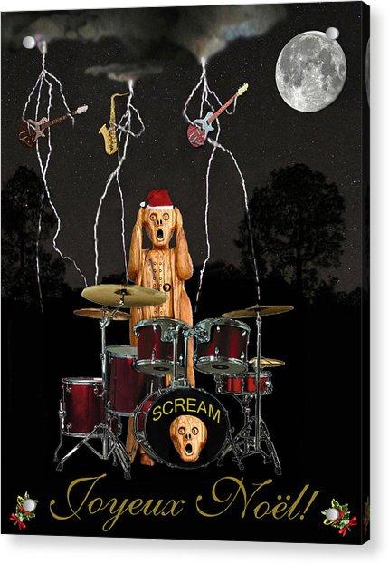 French Christmas Rock Acrylic Print