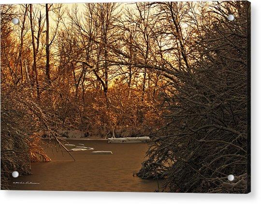 Frozen Pond Acrylic Print