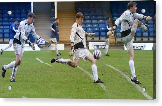 Goalkeeper Kicking Sequence Acrylic Print