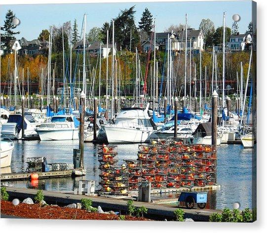 Harbor At Bellingham Acrylic Print