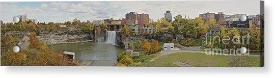 High Falls Panorama Acrylic Print