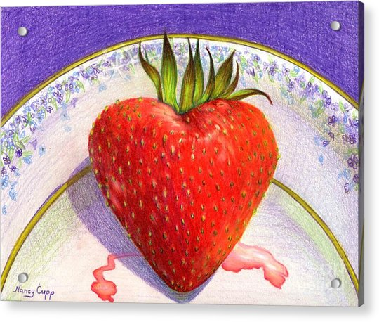 I Love You Berry Much Acrylic Print