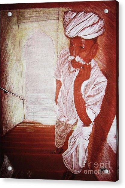 India White Cloth The Seasoning Of Peace Acrylic Print