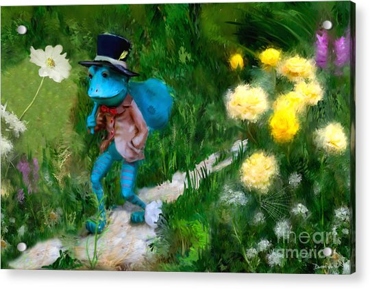 Acrylic Print featuring the digital art Lessons In Lifes Garden by Dwayne Glapion