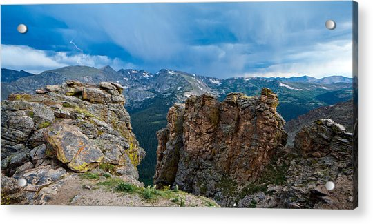 Lightning In Rocky Mountain Acrylic Print