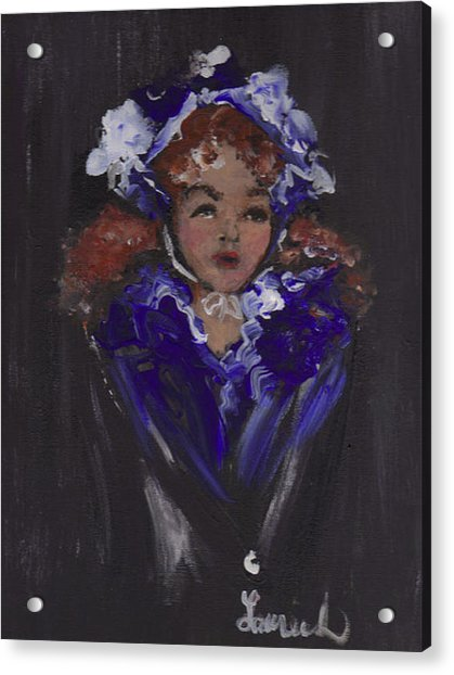 Acrylic Print featuring the painting Lil Girl Blue by Laurie Lundquist