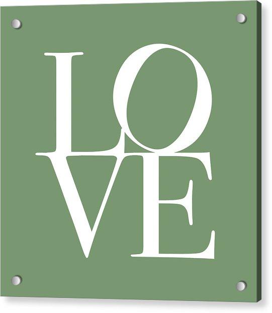 Love In Green Acrylic Print