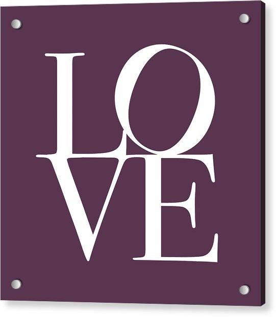 Love In Mullbery Plum Acrylic Print