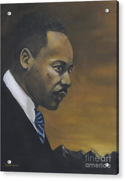 Acrylic Print featuring the painting Martin Luther King Jr - From The Mountaintop by Dwayne Glapion