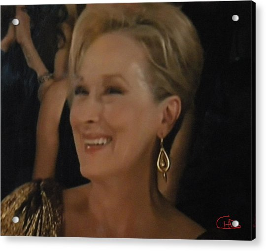 Acrylic Print featuring the photograph Meryl Streep Portrait  by Colette V Hera  Guggenheim