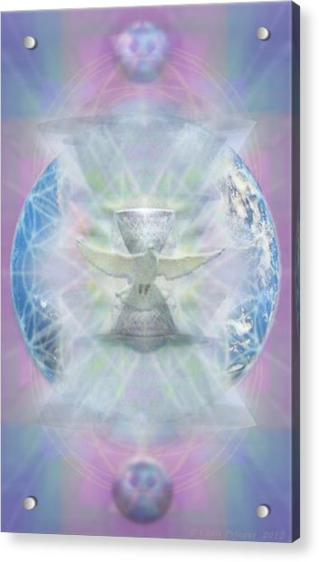 Mother Earth Dove And Chalice Acrylic Print by Christopher Pringer