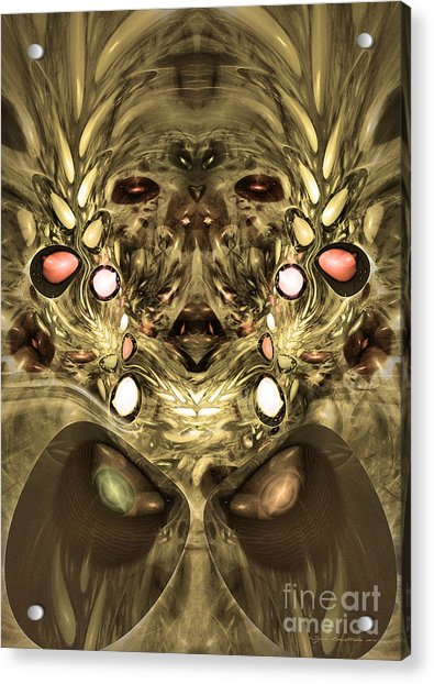 Mummy - Abstract Digital Art Acrylic Print