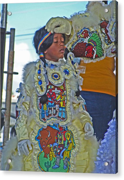 New Generation Of Mardi Gras Indians In New Orleans Acrylic Print