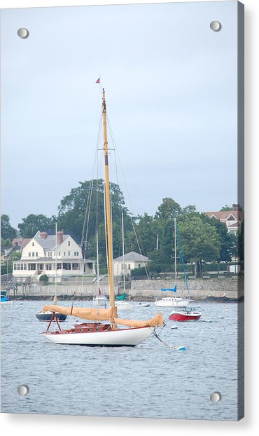 Newport Ri Wooden Sailboat Acrylic Print