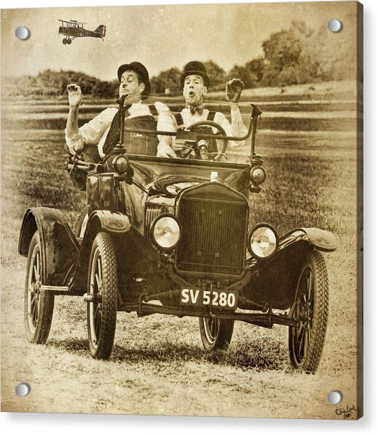 Acrylic Print featuring the photograph Not Likely Laurel And Hardly Hardy by Chris Lord