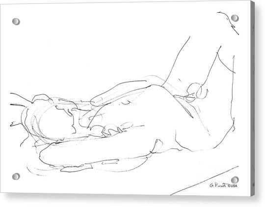 Nude-male-drawings-12 Acrylic Print