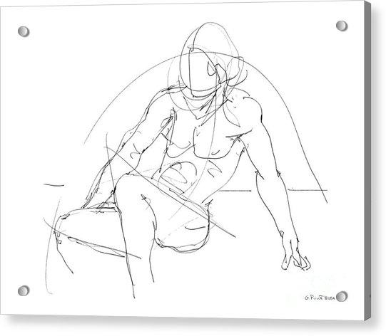 Nude-male-drawings-13 Acrylic Print