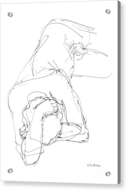 Nude Male Drawings 7 Acrylic Print